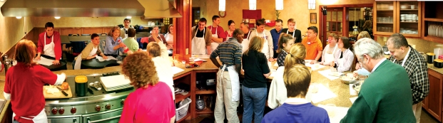 Market Street provides cooking lesson to adult special needs group as part of its cooking school program.